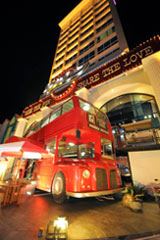 Seen in the image, Exterior of Double-Decker Restaurant