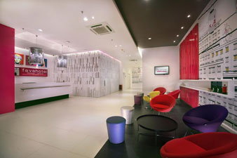 Lobby of favehotel Melawai – Jakarta.