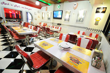 Seen in the image, Interior of Double-Decker Restaurant