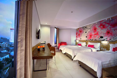 Triple Bedroom of favehotel Daeng Tompo - Makassar