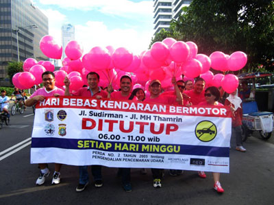 Seen in the image, Archipelago International and the favehotel brand held the Fun Walk to promote awareness of alternative forms of transportation.