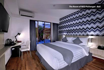 Tampak Kamar dari Hotel NEO Petitenget - Bali