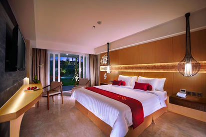 Seen in the image, Deluxe Room of Aston Ungasan Hotel & Convention Center