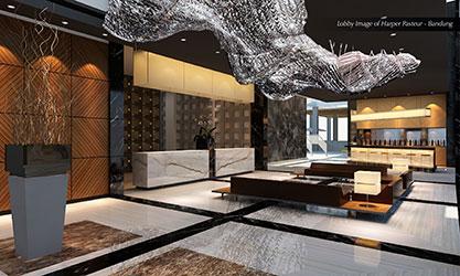 Terlihat pada gambar - Lobby Lounge dari Harper Pasteur - Bandung
