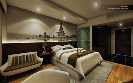 Seen in the image, the room of Hotel NEO Kuta Tuban - Bali