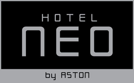 Seen in the image, the logo of Hotel NEO