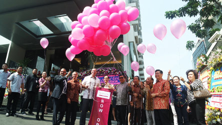 Seen in the image - Balloon released as a mark of favehotel Zainul Arifin's Soft Opening.