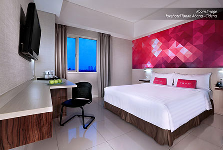 Seen in the image : Room of favehotel Tanah Abang - Cideng
