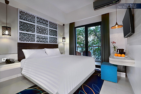 Seen in the image : Deluxe Room of Aston Anyer Beach Hotel.