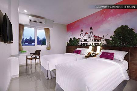 Terlihat pada gambar : Kamar Standar dari favehotel Diponegoro Semarang