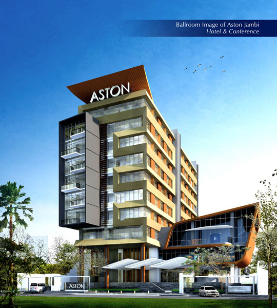 Exterior Building of Aston Jambi Hotel & Conference Center.