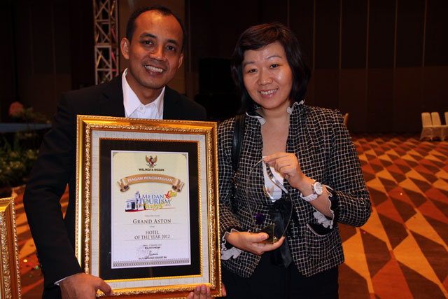 Wahyono, General Manager and Silvey Tangkilisan Director of Sales Marketing of Grand Aston City Hall Medan