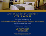 Archipelago International's Bali Hotels Gear Up For Nyepi, The Day Of Silence