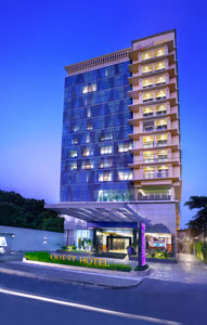 Seen in the picture - Exterior of Quest Hotel Surabaya.