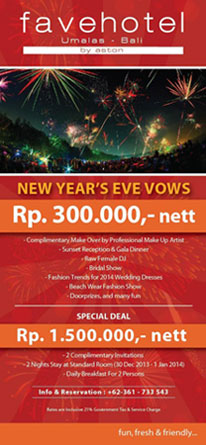 Information of New Year's Eve Celebration at favehotel Umalas