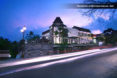 Eksterior dari Hotel NEO Gatot Subroto Bali