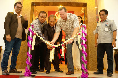Soft Opening Ceremony of favehotel Rembang - Central Java - Seen in the picture from left to right : Mr. Bayu Andriyanto - Director of PT. Ndalem Tentrem, Mr. H. Hamzah Fathoni - Regional Secretary of Rembang Regency, Mr. Atna Tukiman - Owner of favehotel Rembang and Mr. John Flood - President & CEO of Archipelago International.