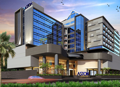 Exterior of Aston Semarang Hotel & Convention Center, Semarang - Central Java.