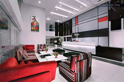 Seen in the image : Lobby Look of Hotel NEO+ Penang