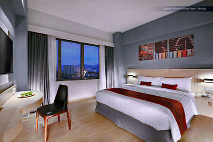 Seen in the image : Superior Room of Hotel NEO+ Penang