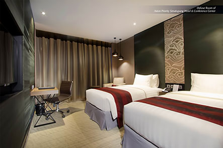Seen in the image : Deluxe Room of Aston Priority Simatupang Hotel & Conference Center.