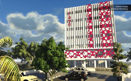 Exterior of favehotel Rembang - Central Java.