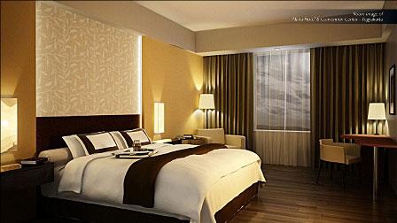 Terlihat pada gambar : Kamar dari The Alana Hotel & Convention - Yogyakarta.