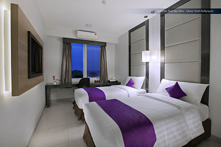 Seen in the image - Superior Room of Quest Hotel Balikpapan