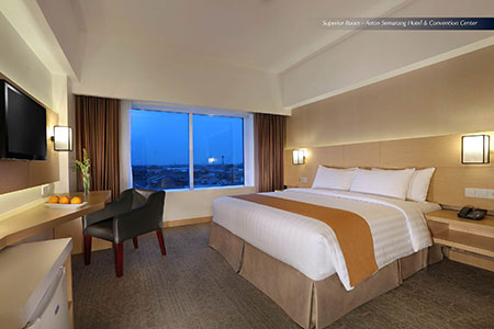 Seen in the image - Superior Room of Aston Semarang Hotel & Convention Center.