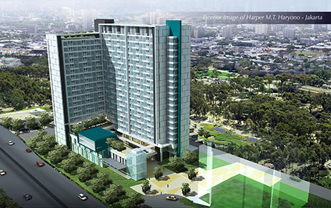 Seen in the picture - Exterior of Harper M.T Haryono - Jakarta