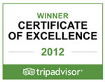 Aston Hotels Receive Certificate Of Excellence Award 2012 From Tripadvisor