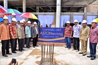 Snapshoot Topping Off Aston Belitung Hotel