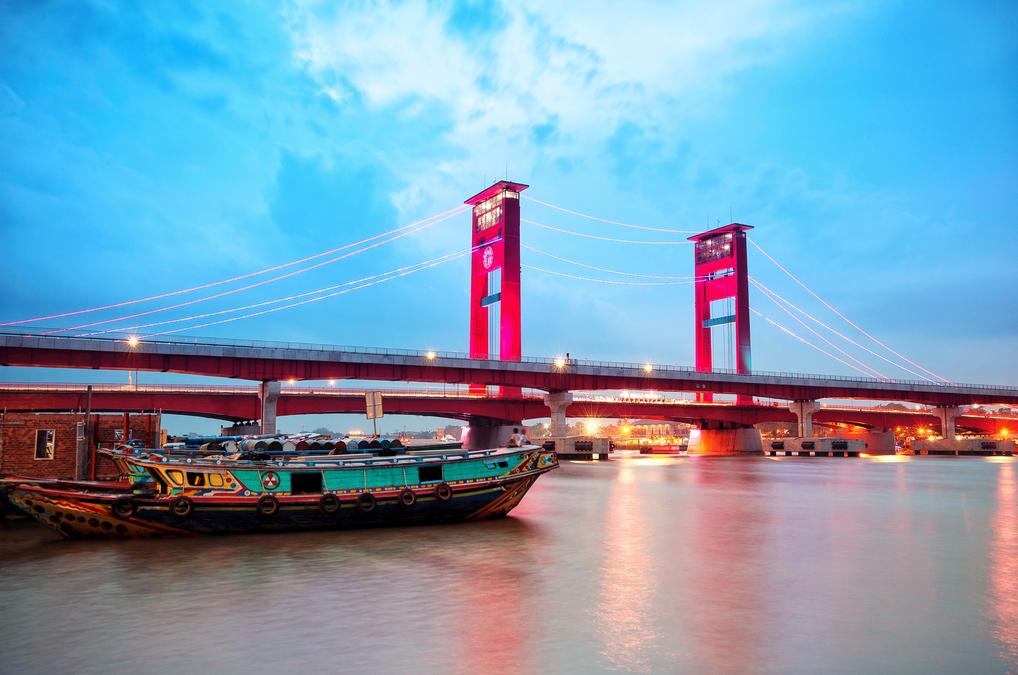 Ampera Bridge & Musi River